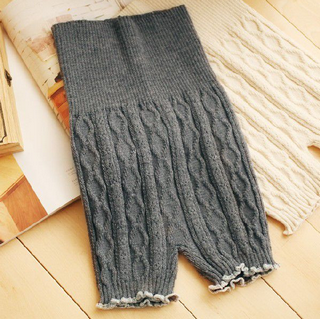 ケーブル編み あったか腹巻き毛糸パンツ.png  お腹もお尻もすっぽり包んでくれる、 大人の為の